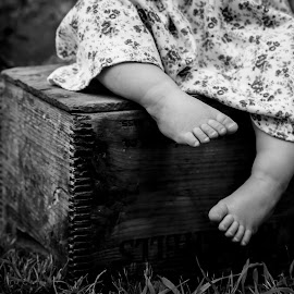 Sweet Feet by Katherine Terrel - Babies & Children Hands & Feet ( sweet, black and white, baby girl, toddler, children photography )