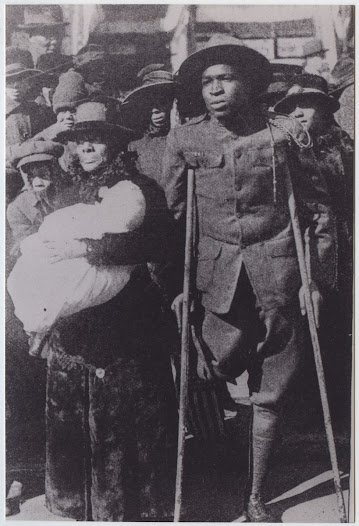"The success and service of black Americans in the <i>War to End All Wars </i>challenged the doctrine of white supremacy, bringing new battles to the home front. In the United States, there were 36 lynchings in 1917. In 1919, there were more than double, a number not since reached, even during the most difficult days of the Civil Rights movement. Known as the ""Red Summer,"" of the 76 lynchings in 1919, 11 of those were of soldiers in their uniforms."