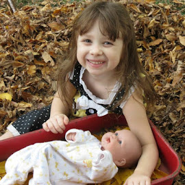 Emmy and her baby by Betty Sutton - Babies & Children Children Candids