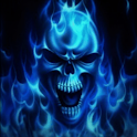 Blue Skull Live Wallpaper icon