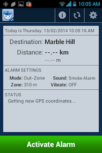 RoboGard Location Alarm Lite - screenshot