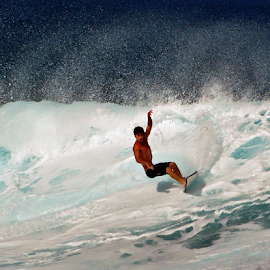 Maui Surfer by Keith Sutherland - Sports & Fitness Surfing ( danger, surfing, surfer, wave, sport, ocean, fast )