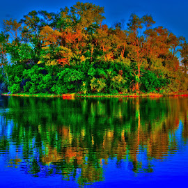 HDR Island by Josiah Marshall - Landscapes Waterscapes ( water, nature, hdr, colorful, bright, island )
