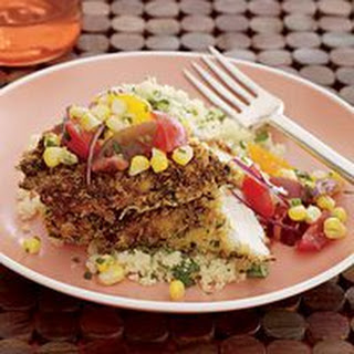 Pan-Fried Chicken with Fresh Tomato-and-Corn Salsa