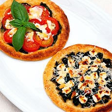 Feta Cheese, Spinach and Pine Nut Galettes