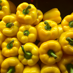 Yellow Glory! by Lope Piamonte Jr - Food & Drink Fruits & Vegetables ( salad, peppers, spice, sweet pepper, yellow,  )