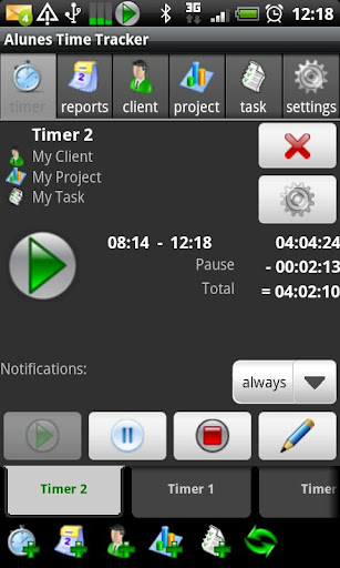 timesheet for android screenshot