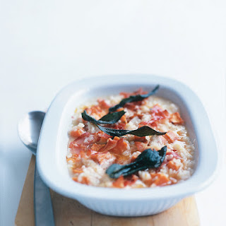 Pancetta, Sweet Potato And Sage Baked Risotto