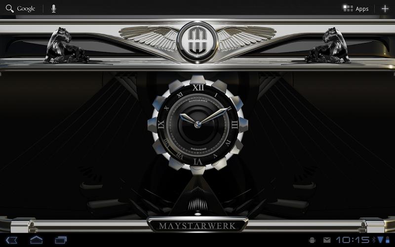 Clock Widget Black Panther Screenshot 4