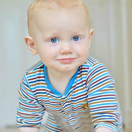 crawler by Melanie Pista - Babies & Children Babies ( red hair, blue eyes, baby, crawling, smiling )