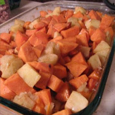 Carameled Apple Sweet Potatoes