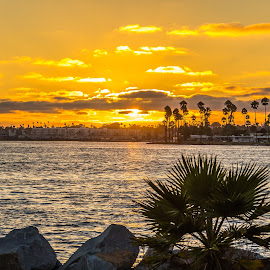Sunset over San Diego by Greg Head - Novices Only Landscapes ( water, orange, bay, sunset, ocean )