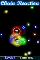 Screenshot of Glow Chain Reaction