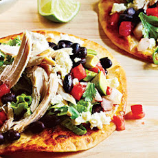 Chicken Tostadas and Avocado Salsa