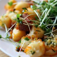 Crispy Broiled Scallops and Chorizo