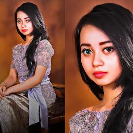Kebaya Indonesia by AUDI ART - Digital Art People