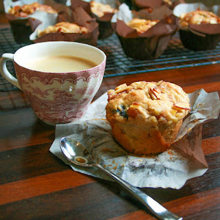 Apple, Cherry, Pear and Almond Breakfast Muffins