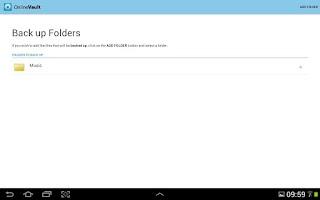 Screenshot of Online Vault