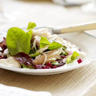 Smoked Mackerel Salad With Beetroot & Horseradish Dressing