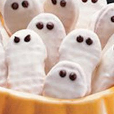 Frightfully Easy Ghost Cookies