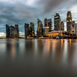Singapore CBD by SooSing Goh - City,  Street & Park  Skylines ( cbd, long exposure, singapore )