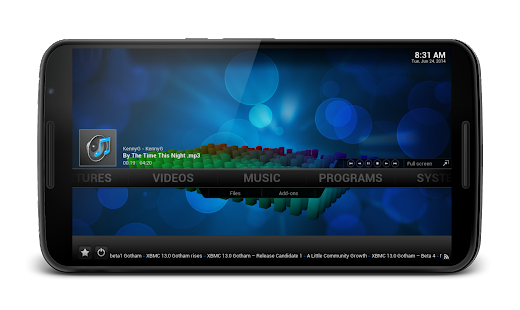 Media Center Player XBMC KODI - screenshot