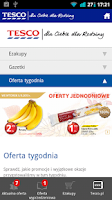 Screenshot of Gazetki Tesco