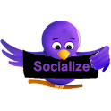 Purple Socialize for Twitter icon