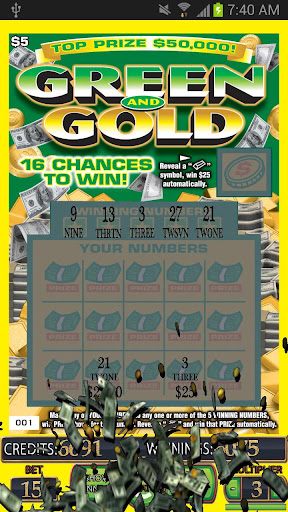 GREEN GOLD Scratch Card - screenshot