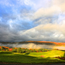 morning fall! by Cassie Nyberg George - Landscapes Mountains & Hills