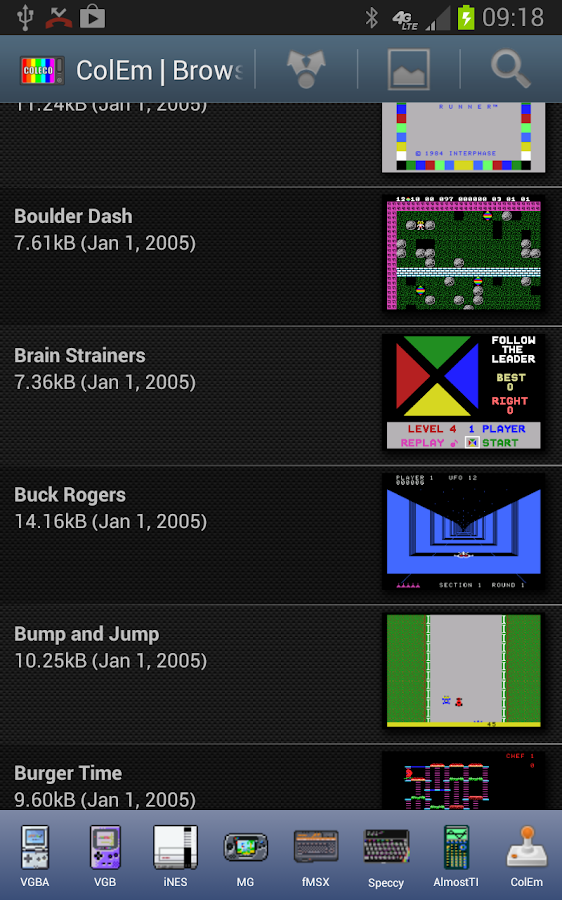 ColEm Deluxe - Coleco Emulator Screenshot 0