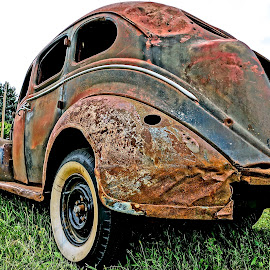 Old and Rusty by Barbara Brock - Transportation Automobiles ( old car, rusty car, antique car, abandoned automobile )