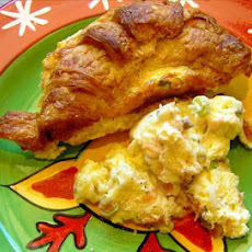 Croissant & Salmon (or Ham) Breakfast Casserole
