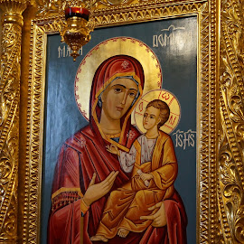 Madonna and Christ Child by Donald Henninger - Novices Only Objects & Still Life ( icon, altar, church, orthodox, romania, travel, worship, religious,  )