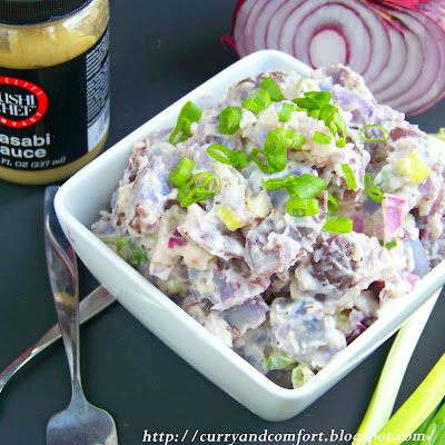 Wasabi Blue Potato Salad