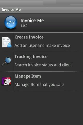 InvoiceMe - invoice app