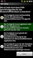 Screenshot of German UBI exam trainer