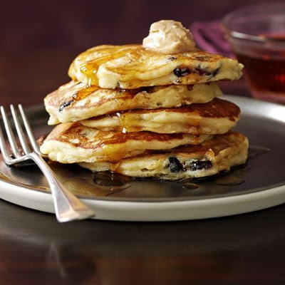 Apple & Cranberry Pancakes With Cinnamon Butter & Syrup