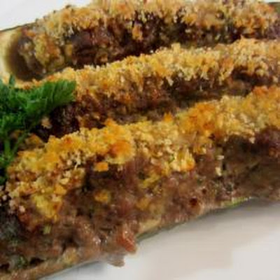 Maria's Stuffed Courgettes