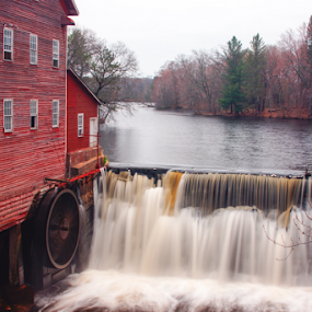 Mill Pond HDR by Tina Hailey - Buildings & Architecture Public & Historical ( water mill, mill pond, wi, tinas capture moments,  )