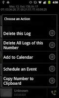 Screenshot of Advanced Phone Log Pro