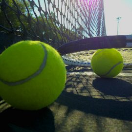 by Thomas Polk - Instagram & Mobile iPhone ( tennis court, photo stream, tennis ball )