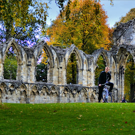 old ruins by Nic Scott - Buildings & Architecture Other Exteriors ( yorkshire, york, ruins, fall, color, colorful, nature )