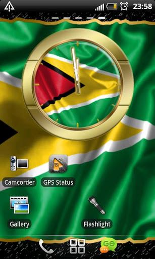 Guyana flag clocks