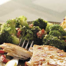 Broccoli with Smoked Almonds Recipe