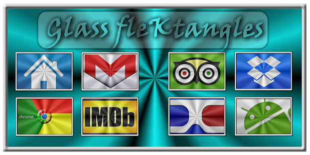 Glass FleKtangles Icon Pack - screenshot