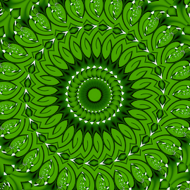 by Dipali S - Illustration Abstract & Patterns ( abstract, pattern, green, illustration, background, illusion, geometric, geometrical, design )