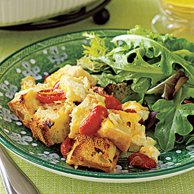 Cheddar-and-Tomato Bread Pudding