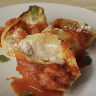 Mario Batali's Turkey Sausage Stuffed Shells