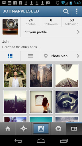 instagram for android screenshot